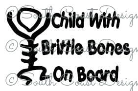 Child With Brittle Bones On Board